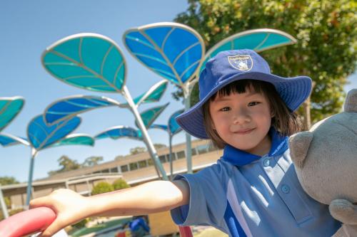 RLC Student having fun in the sun
