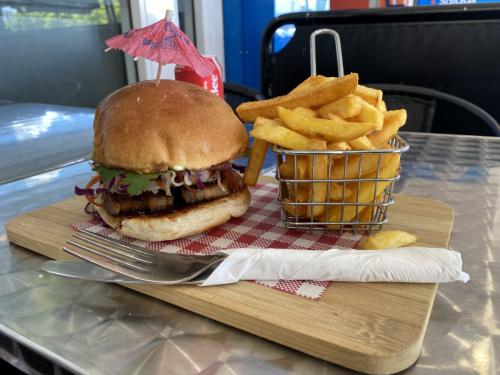 Pork Belly Burger by Gathering Spot Cafe